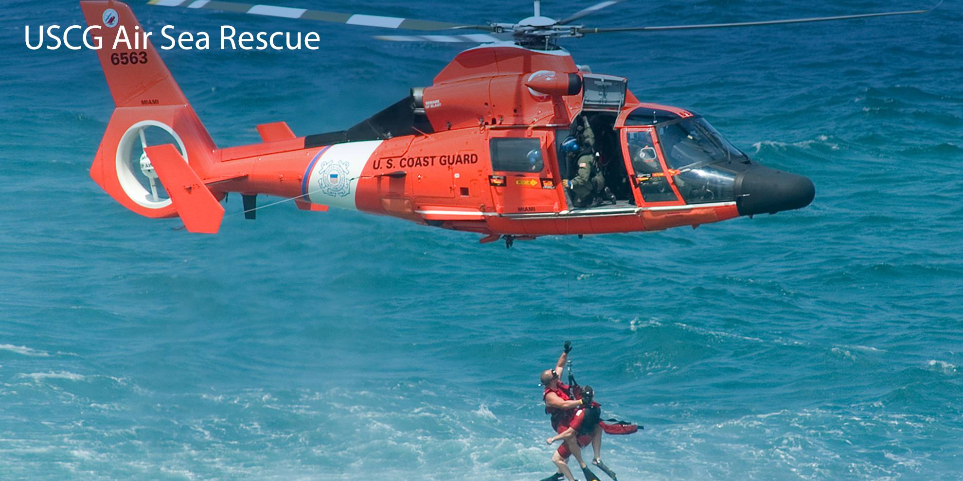 US COAST GUARD AIR SEA RESCUE DEMONSTRATION